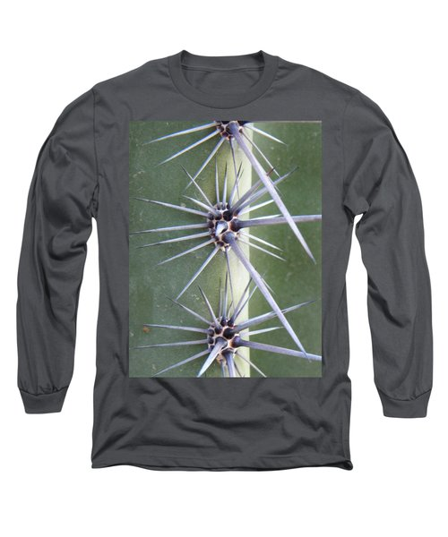 Long Sleeve T-Shirt featuring the photograph Cactus Thorns by Deb Halloran