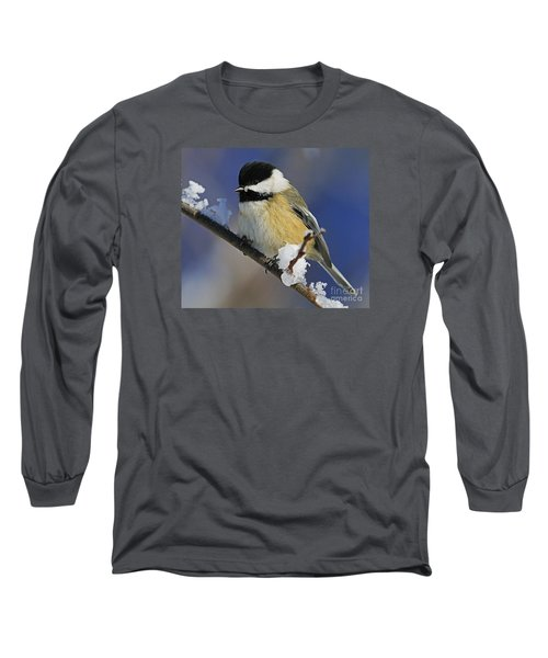 Winter Chickadee... Long Sleeve T-Shirt by Nina Stavlund