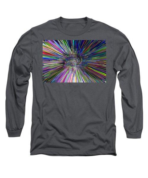 3 D Dimensional Art Abstract Long Sleeve T-Shirt