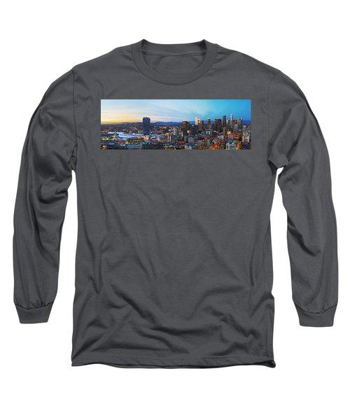 Los Angeles Skyline Long Sleeve T-Shirt by Kelley King