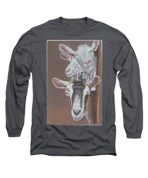 3 Nosey Goats Long Sleeve T-Shirt