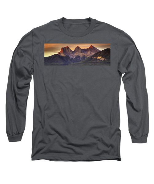 3 Sisters Canmore Alberta Long Sleeve T-Shirt
