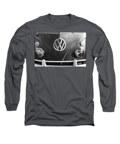 Volkswagen Vw Bus Front Emblem Long Sleeve T-Shirt