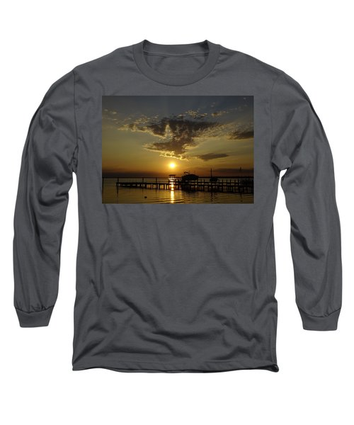 An Outer Banks Of North Carolina Sunset Long Sleeve T-Shirt by Richard Rosenshein