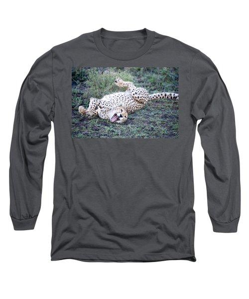 Cheetah Acinonyx Jubatus Resting Long Sleeve T-Shirt
