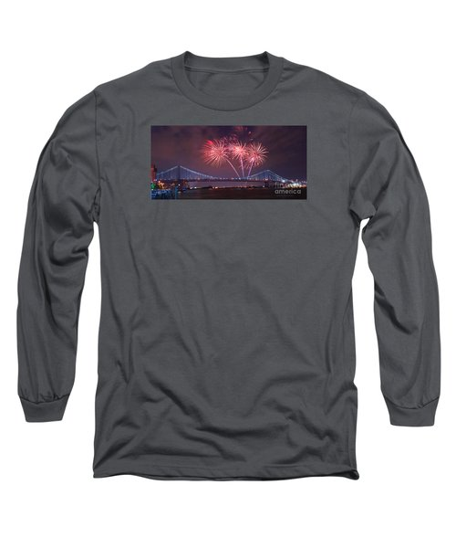 Long Sleeve T-Shirt featuring the photograph 4 Th Of July Firework by Rima Biswas