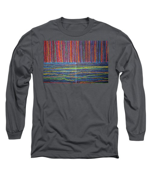 Long Sleeve T-Shirt featuring the painting Untitled by Kyung Hee Hogg