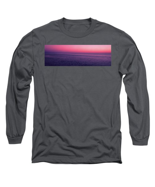 View Of Ocean At Sunset, Cape Cod Long Sleeve T-Shirt