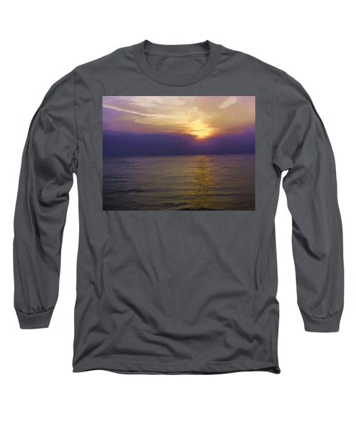 View Of Sunset Through Clouds Long Sleeve T-Shirt