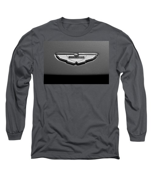 Aston Martin Emblem Long Sleeve T-Shirt by Jill Reger
