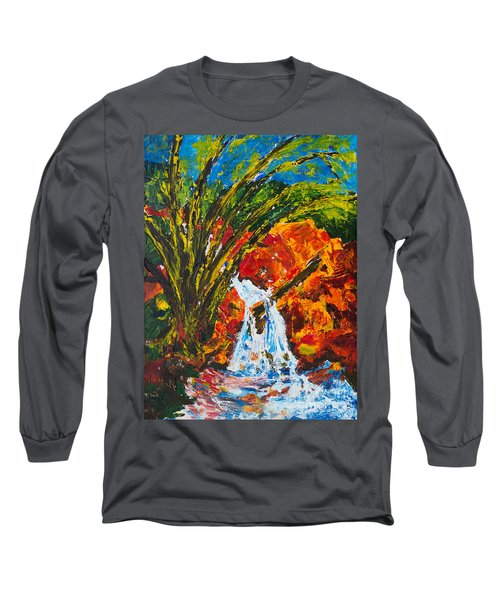 Burch Creek Waterfall Long Sleeve T-Shirt