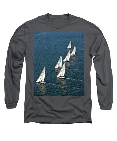Sailboats In Swan Nyyc Invitational Long Sleeve T-Shirt