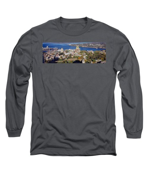 High Angle View Of Buildings In A City Long Sleeve T-Shirt