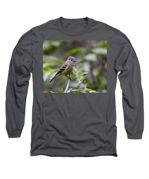 Alder Flycatcher Long Sleeve T-Shirt by Doug Lloyd