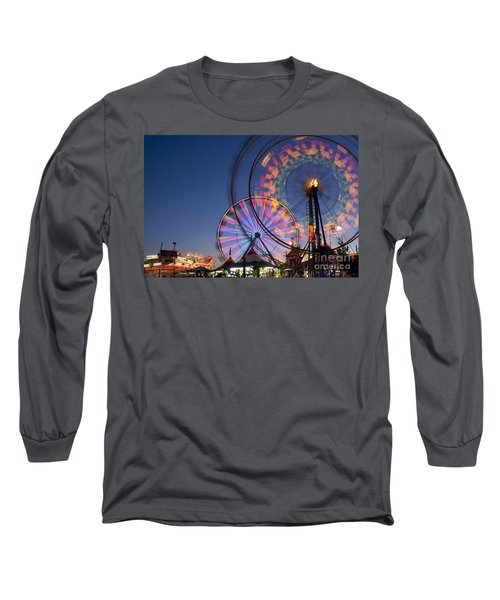 Evergreen State Fair With Ferris Wheel Long Sleeve T-Shirt