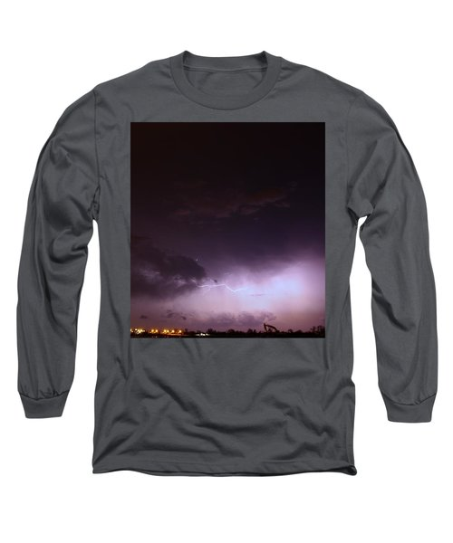 Our 1st Severe Thunderstorms In South Central Nebraska Long Sleeve T-Shirt