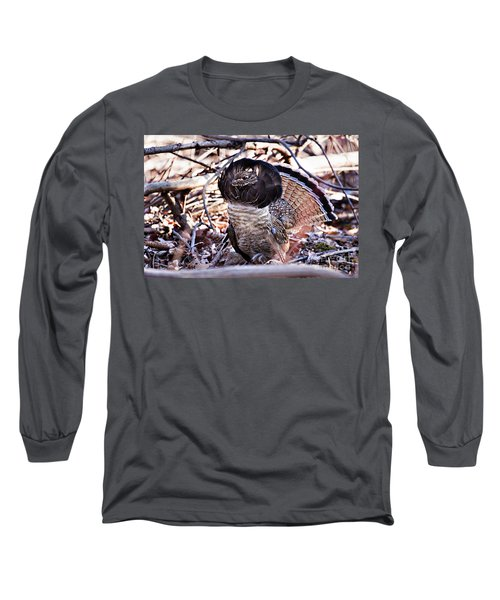 Ruffed Grouse Long Sleeve T-Shirt by Ronald Lutz