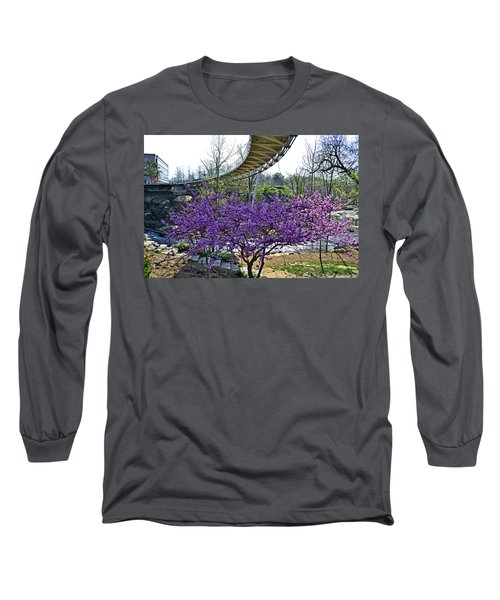 Long Sleeve T-Shirt featuring the photograph A Bridge To Spring by Larry Bishop