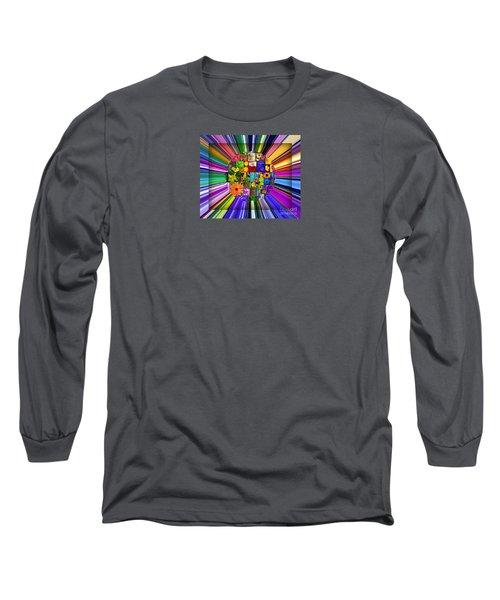 A Burst Of Flowers Long Sleeve T-Shirt by Janice Westerberg