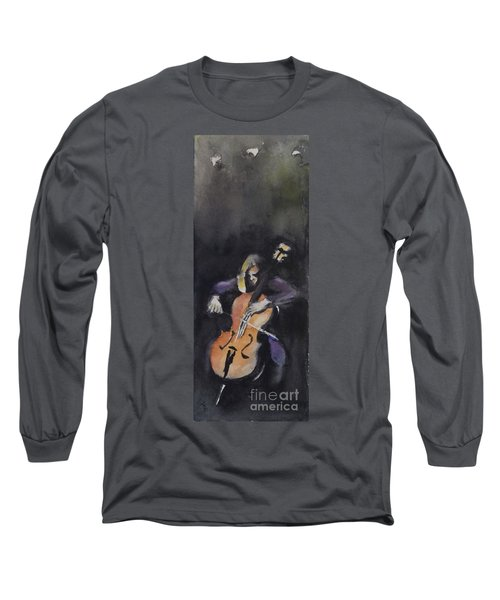 A Cellist Long Sleeve T-Shirt by Yoshiko Mishina