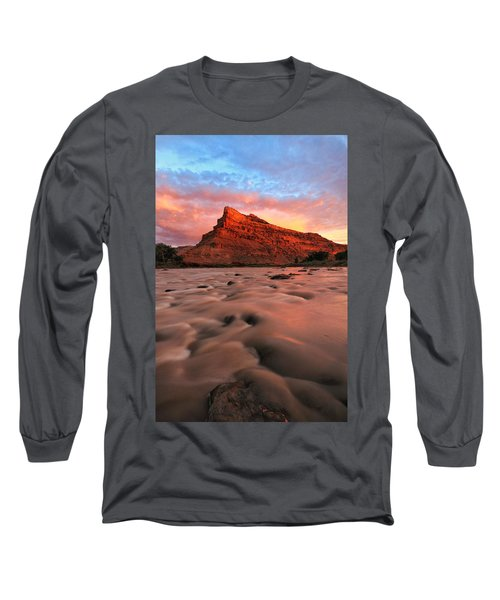 Long Sleeve T-Shirt featuring the photograph A Chocolate Milk River by Ronda Kimbrow