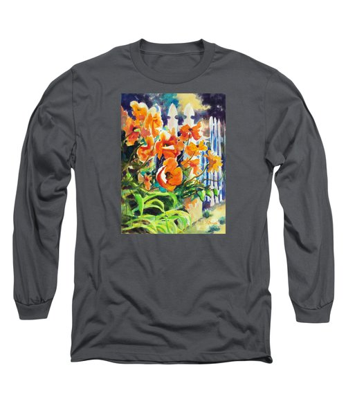A Choir Of Poppies Long Sleeve T-Shirt by Kathy Braud