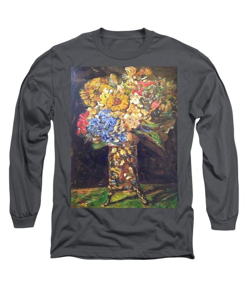 Long Sleeve T-Shirt featuring the painting A Colorful Sun-day by Belinda Low