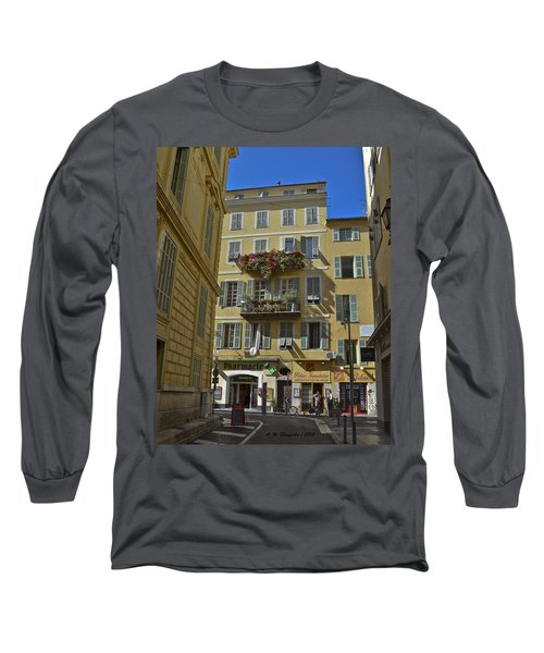 Long Sleeve T-Shirt featuring the photograph A Corner In Nice by Allen Sheffield