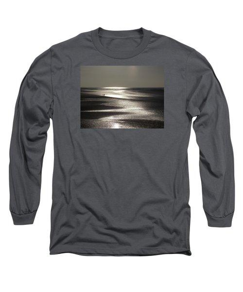 A Couple On A Deserted Beach Long Sleeve T-Shirt