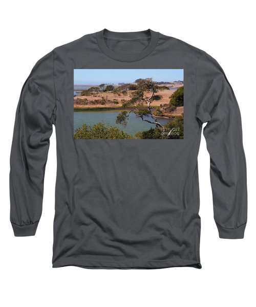 Long Sleeve T-Shirt featuring the photograph A Cove In Late Summer At Elkhorn Slough by Susan Wiedmann