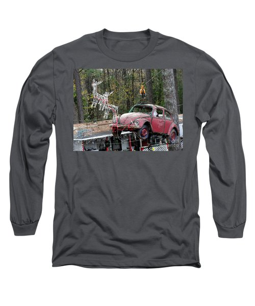 Long Sleeve T-Shirt featuring the photograph A Difference Sleigh  by Donna Brown