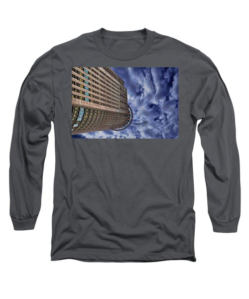 Long Sleeve T-Shirt featuring the photograph A Drifting Skyscraper by Ron Shoshani