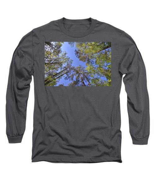 A Forest Sky Long Sleeve T-Shirt by Gordon Elwell