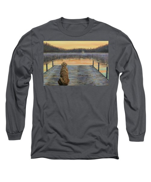 Long Sleeve T-Shirt featuring the painting A Golden Moment by Susan DeLain