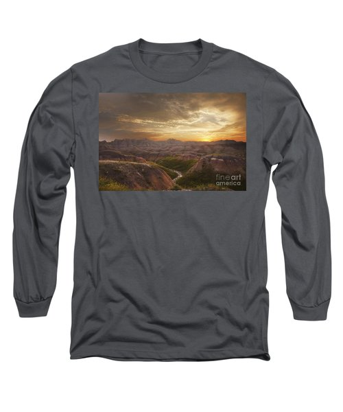 A Good Sunrise In The Badlands Long Sleeve T-Shirt