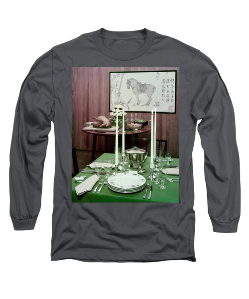 A Green Table Long Sleeve T-Shirt