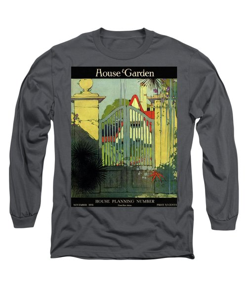 A House And Garden Cover Of A Gate Long Sleeve T-Shirt