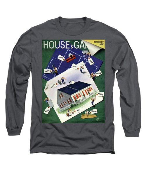 A House And Garden Cover Of A House Long Sleeve T-Shirt