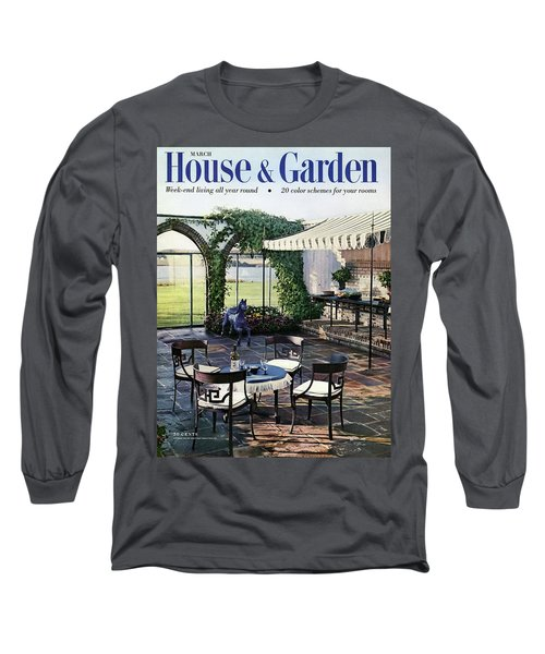 A House And Garden Cover Of A Terrace In East Long Sleeve T-Shirt