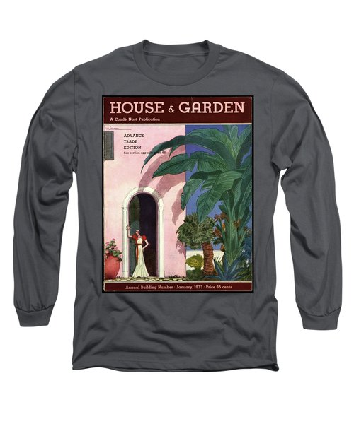 A House And Garden Cover Of A Woman In A Doorway Long Sleeve T-Shirt
