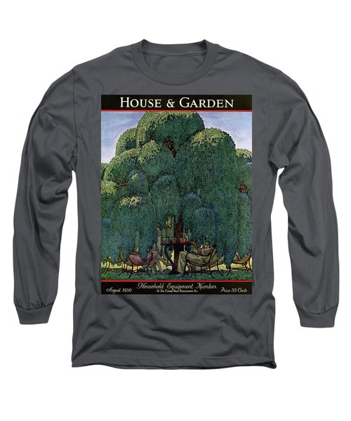 A House And Garden Cover Of People Dining Long Sleeve T-Shirt