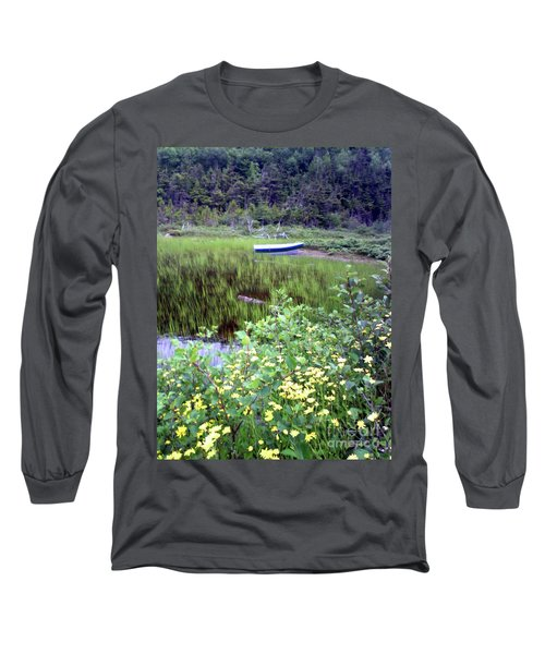 Long Sleeve T-Shirt featuring the photograph A Little Flat Awaiting by Barbara Griffin
