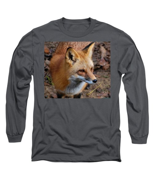 A Little Red Fox Long Sleeve T-Shirt