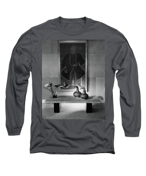 A Modern Table With An Oriental Painting Long Sleeve T-Shirt