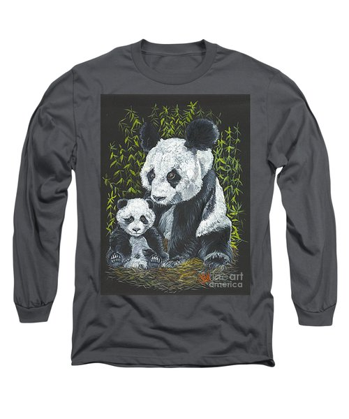 Long Sleeve T-Shirt featuring the painting A Mothers Devotion by Carol Wisniewski