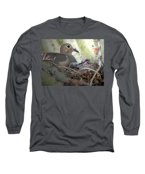 Long Sleeve T-Shirt featuring the photograph A Mothers' Love by Deb Halloran