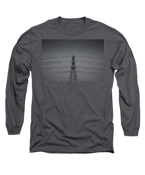 A Murmuration Of Starlings Long Sleeve T-Shirt