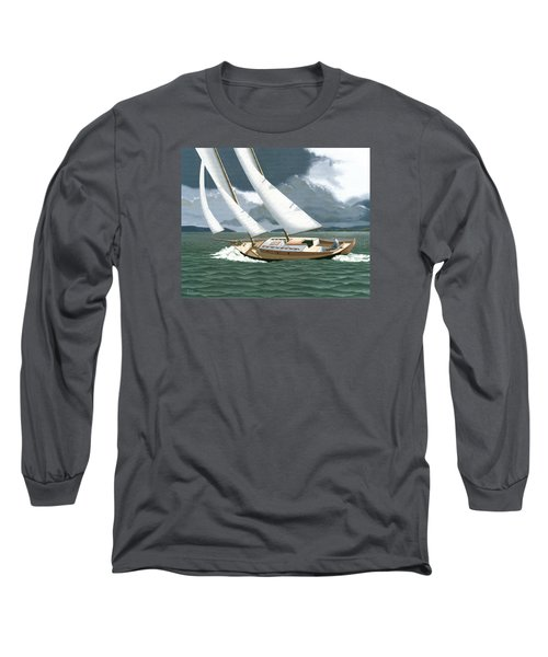Long Sleeve T-Shirt featuring the painting A Passing Squall by Gary Giacomelli