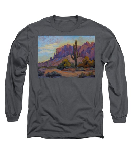 A Proud Saguaro At Superstition Mountain Long Sleeve T-Shirt