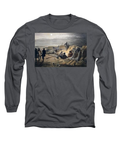 A Quiet Night In The Batteries, Plate Long Sleeve T-Shirt
